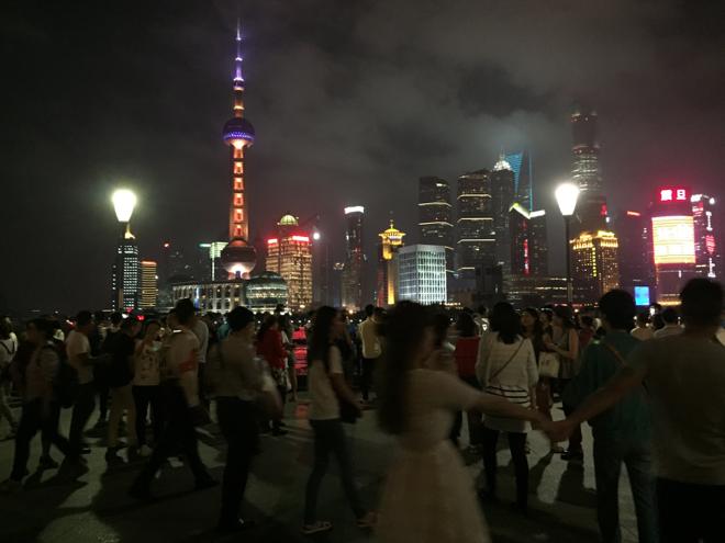 上海タワー観光客