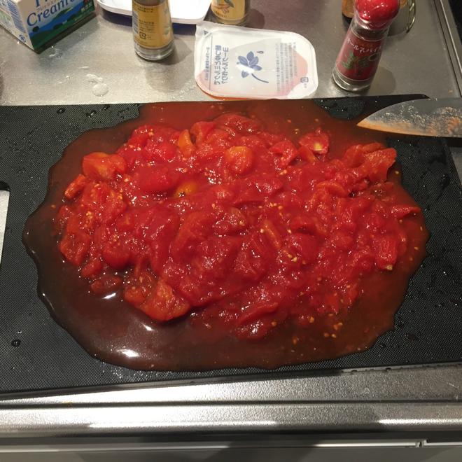 トマトの粗みじん切り