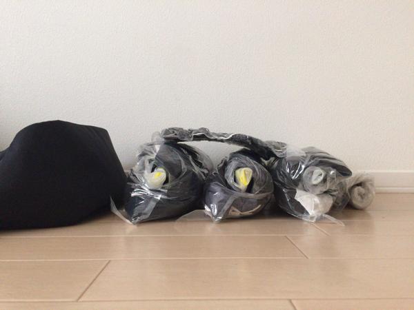 衣類圧縮袋 使用後